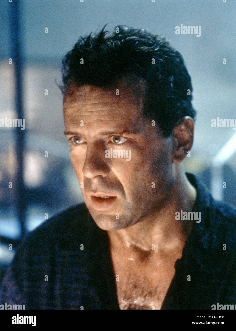 Bruce Willis / Die Hard 2 / 1990 directed by Renny Harlin [20th Century Fox] - Stock Image