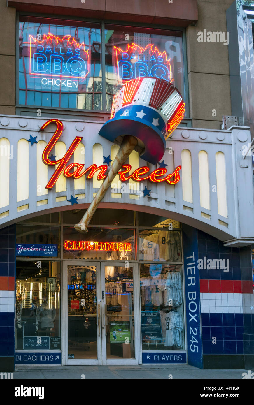 Yankees Clubhouse store on 42nd Street in New York City - Stock Image