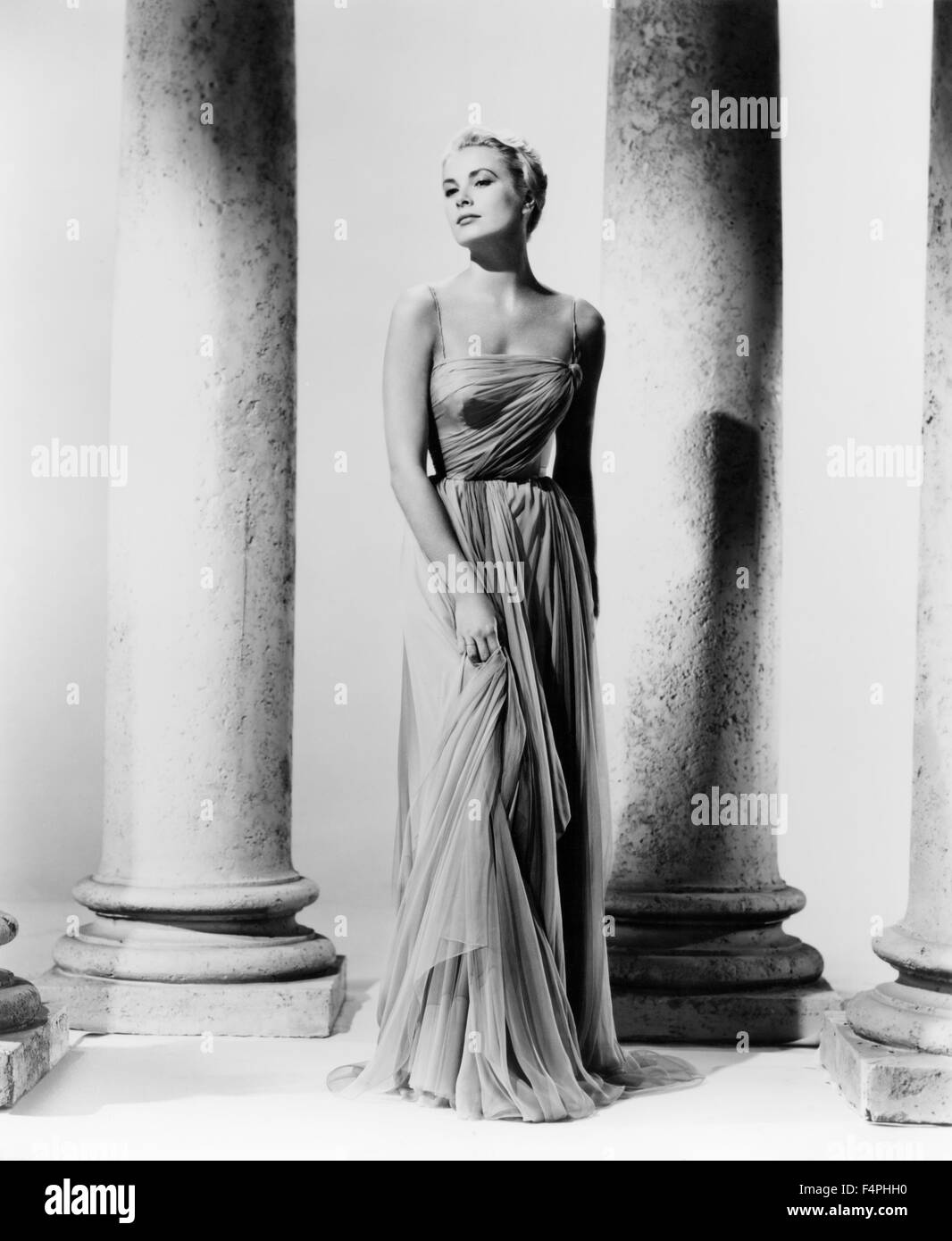 Grace Kelly / promotional portrait for 'To Catch a Thief' / 1954 directed by Alfred Hitchcock [Paramount - Stock Image