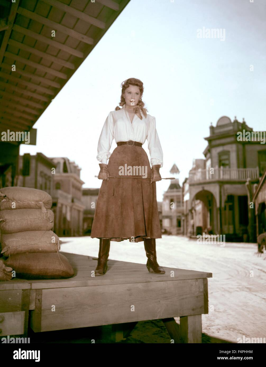 Rhonda Fleming / Bullwhip / 1958 directed by Harmon Jones [Allied Artists Pictures] - Stock Image