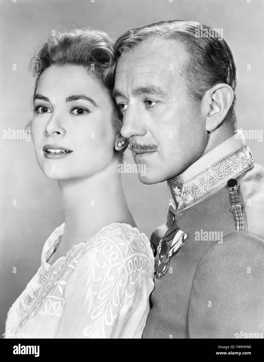 Grace Kelly and Alec Guinness / The Swan / 1955 directed by Charles Vidor [Metro-Goldwyn-Mayer Pictures] - Stock Image
