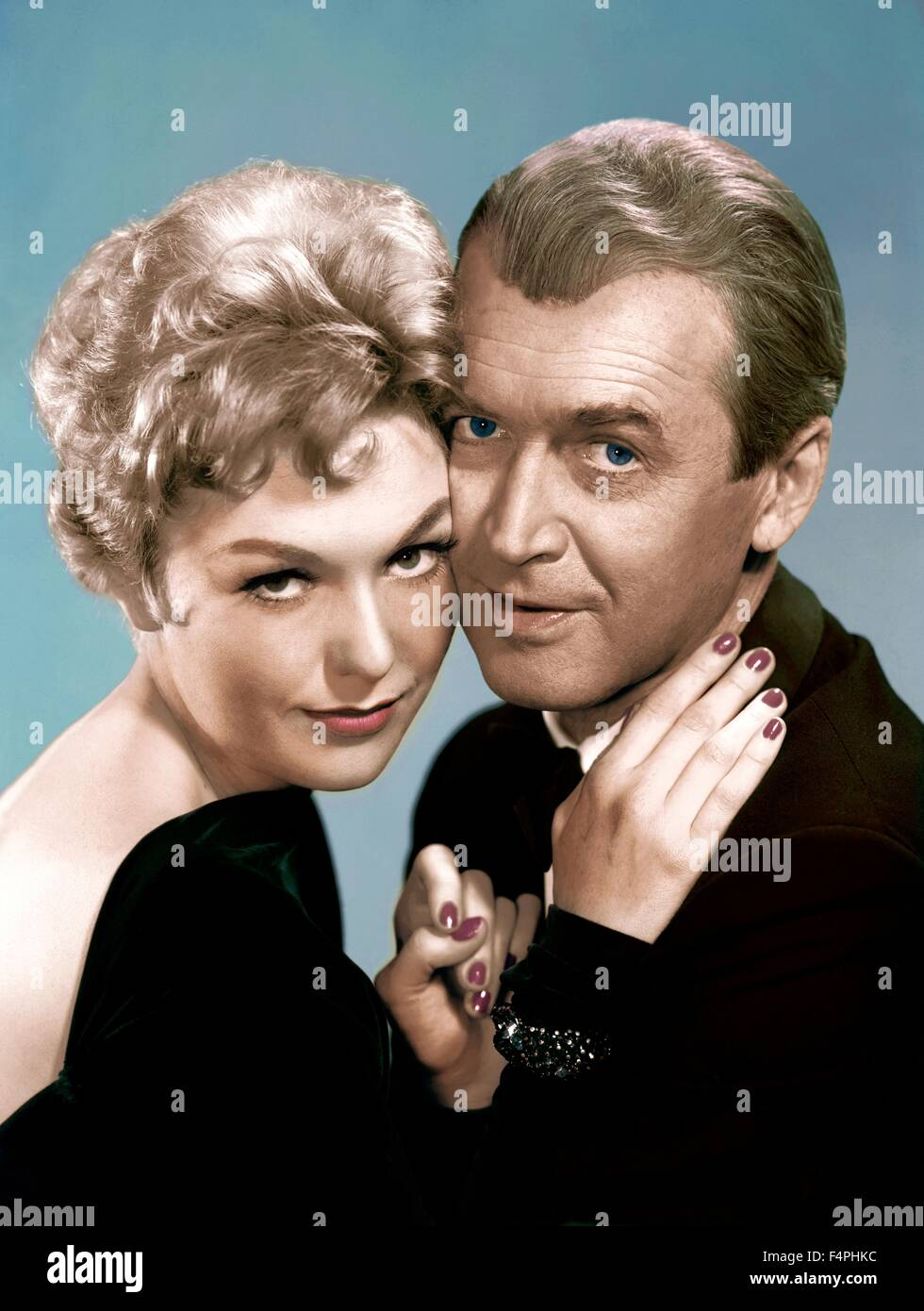 Kim Novak and James Stewart / Bell Book and Candle / 1958 directed by Richard Quine [Columbia Pictures] - Stock Image