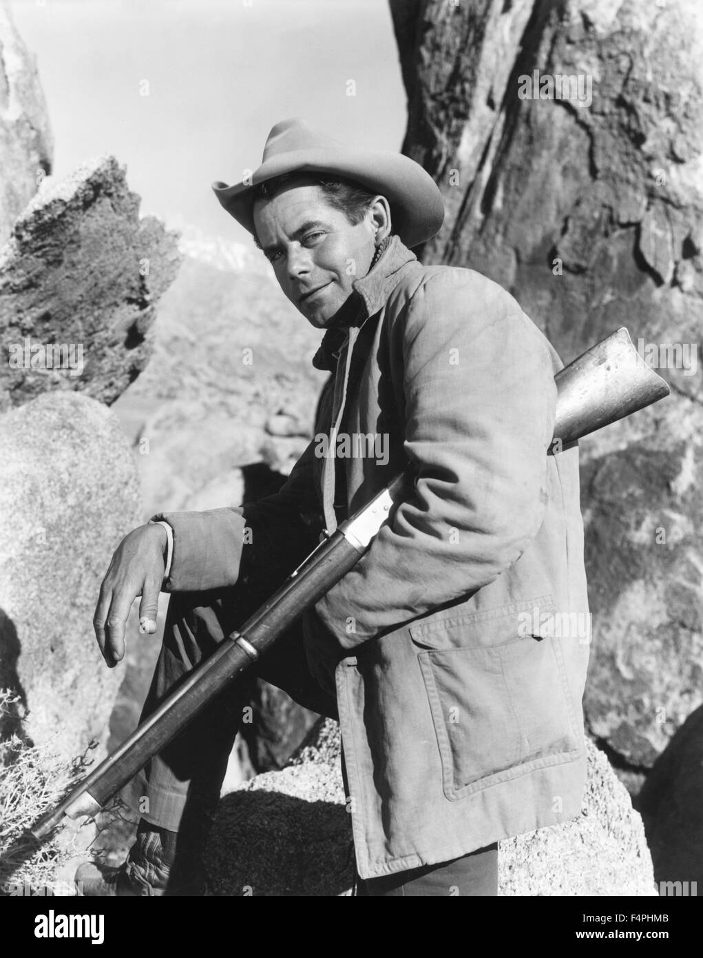 Glenn Ford / The Violent Men / 1955 directed by Rudolph Mate [Paramount Pictures] - Stock Image