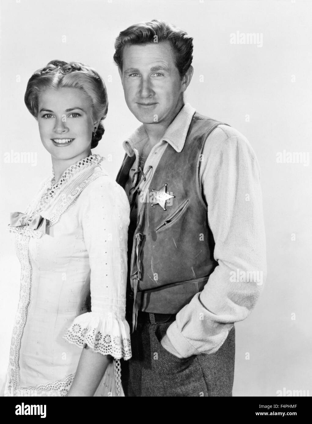 Grace Kelly and Lloyd Bridges / High Noon / 1952 directed by Fred Zinnemann [United Artists] - Stock Image