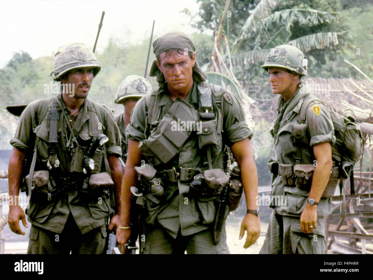 Tom Berenger / Platoon / 1986 directed by Oliver Stone [Orion Pictures Corporation] - Stock Image