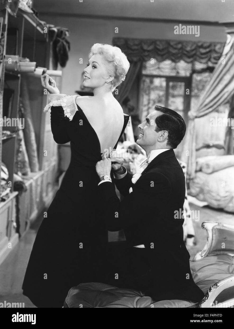 Tyrone Power and Kim Novak / The Eddy Duchin Story / 1956 directed by George Sidney  [Columbia Pictures] - Stock Image
