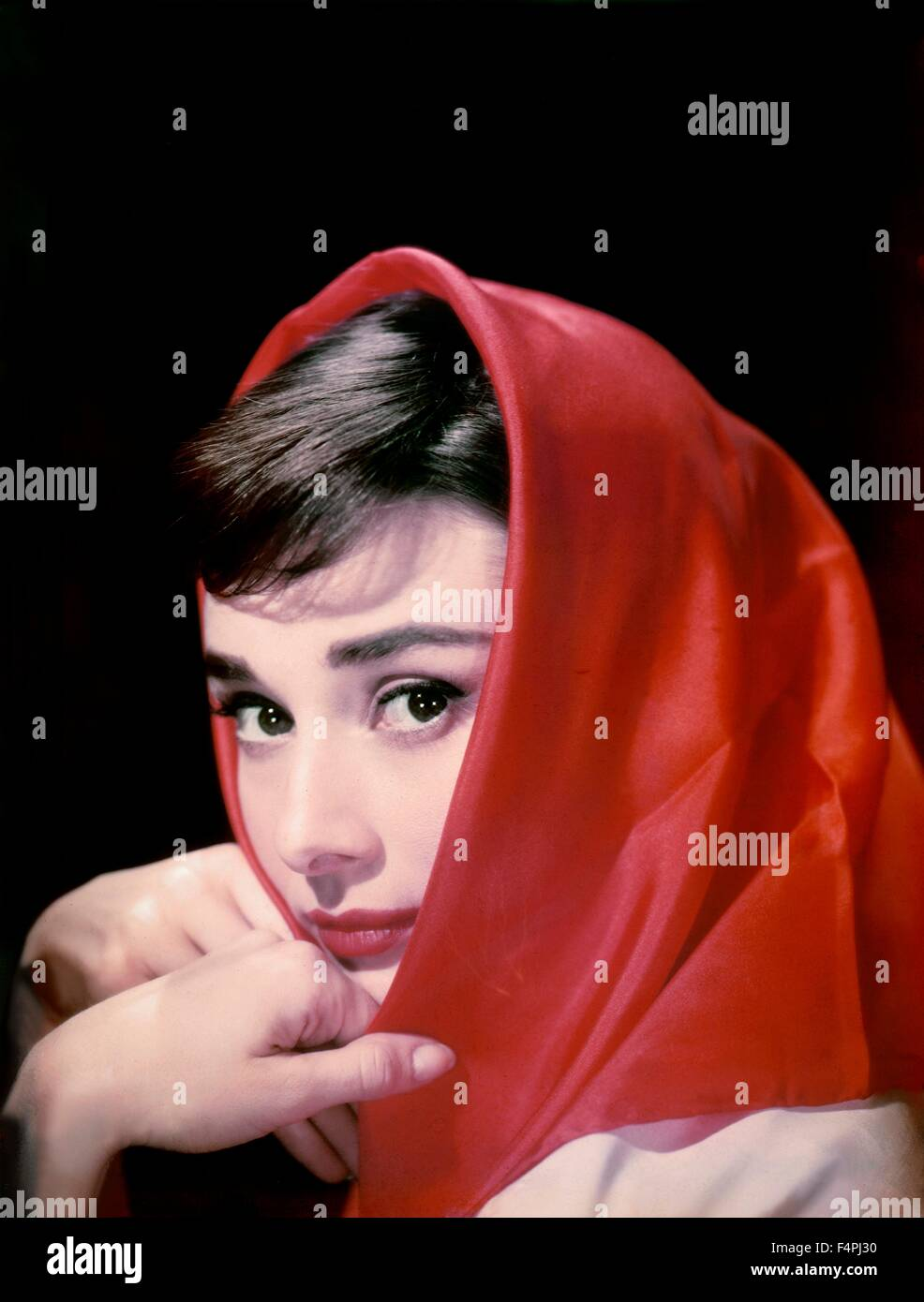 Audrey Hepburn / 1956 [Paramount Pictures] Stock Photo