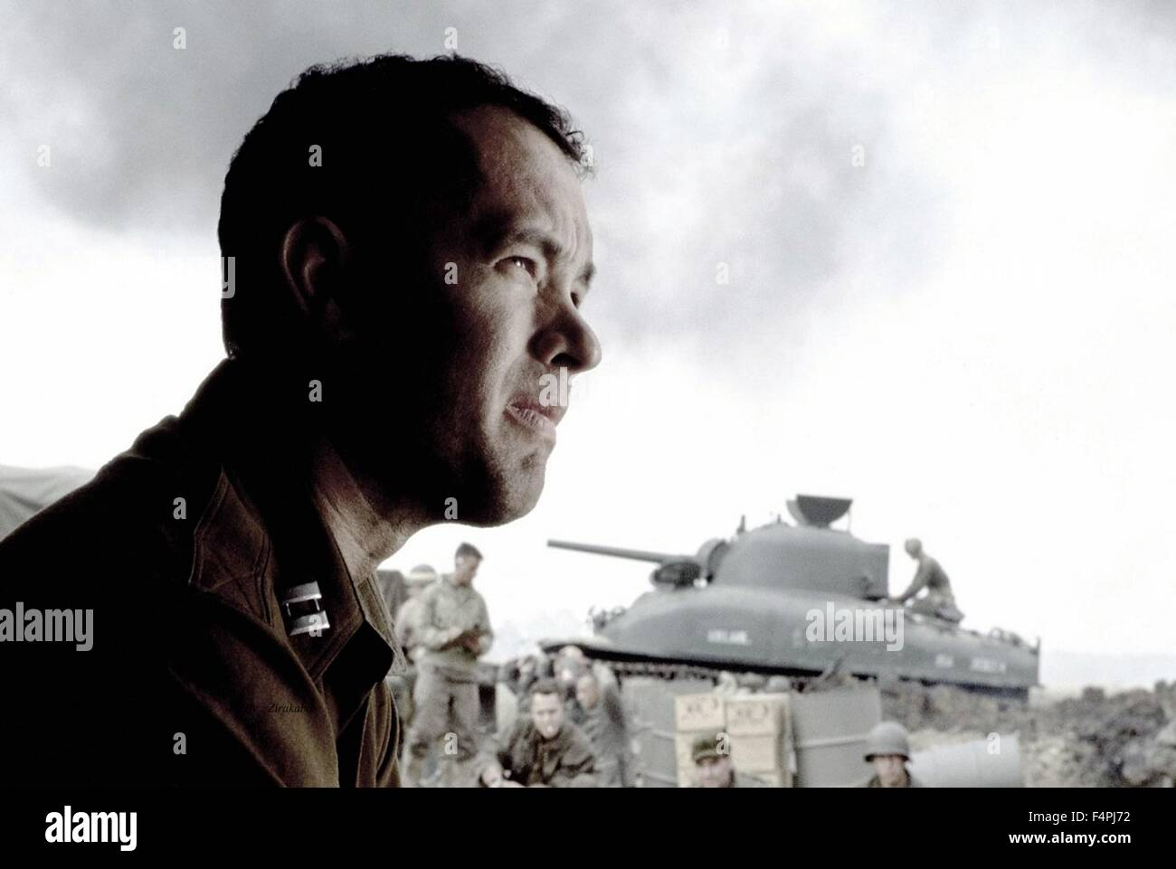 Tom Hanks / Saving Private Ryan / 1998 directed by Steven Spielberg [Dreamworks LLC /Paramount Pictures] - Stock Image