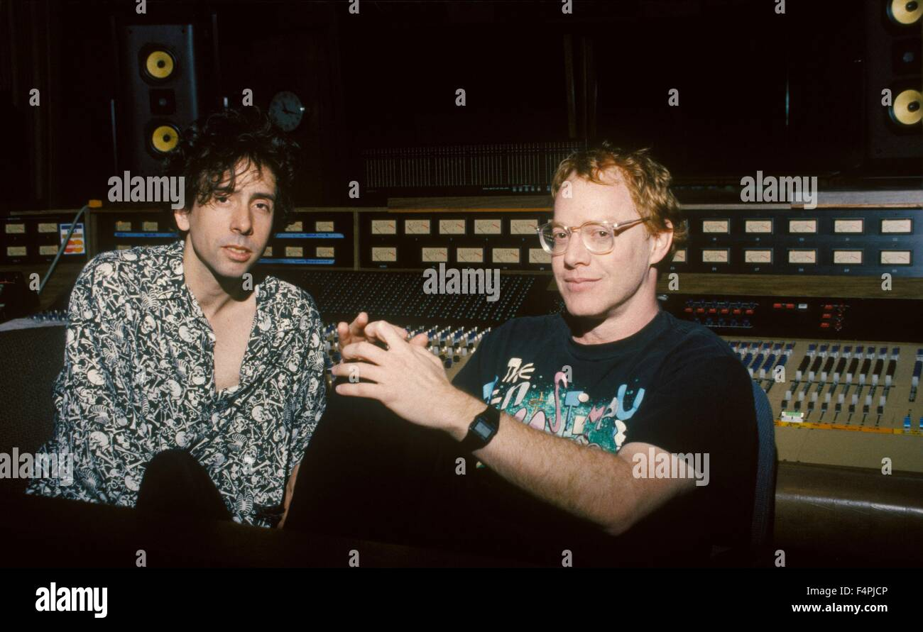 On the set, Tim burtom with Danny Elfman, composer / The Nightmare ...