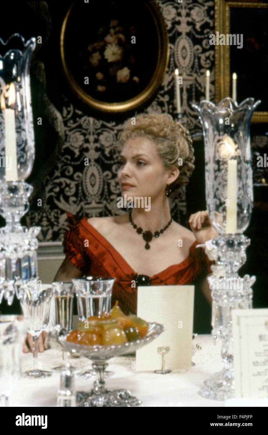 Michelle Pfeiffer / The Age of Innocence / 1993 directed by Martin Scorsese [Columbia Pictures] - Stock Image