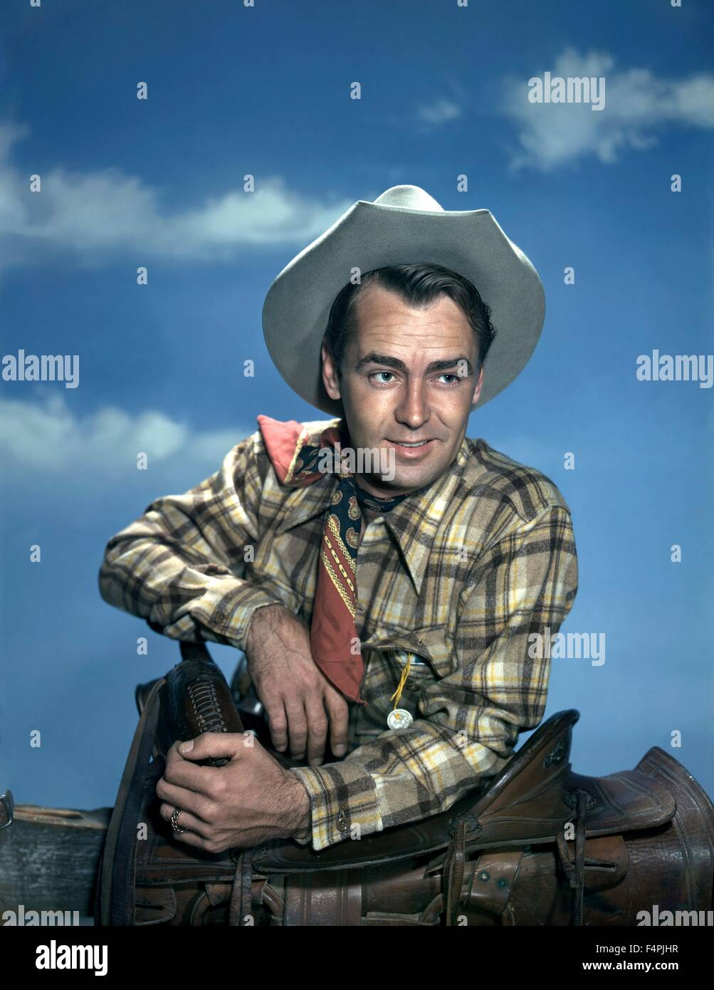 Alan Ladd / Branded / 1951 directed by Rudolph Mate [Paramount Pictures] - Stock Image