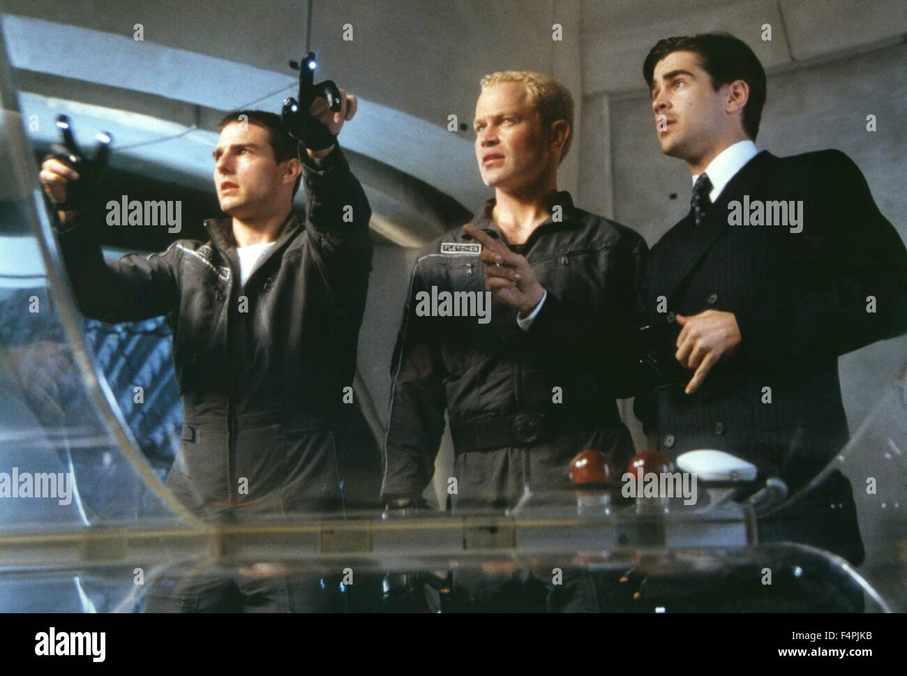 Tom Cruise, Neal McDonough and Colin Farrell / Minority Report / 2002 directed by Steven Spielberg [DreamWorks SKG - Stock Image