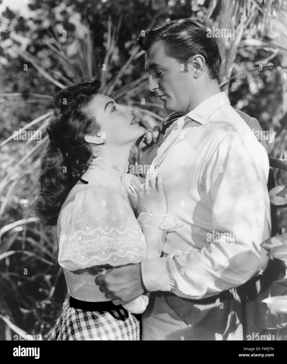 Ava Gardner and Robert Mitchum / My Forbidden Past / 1951 directed by Robert Siodmak [R.K.O. Radio Picture] - Stock Image