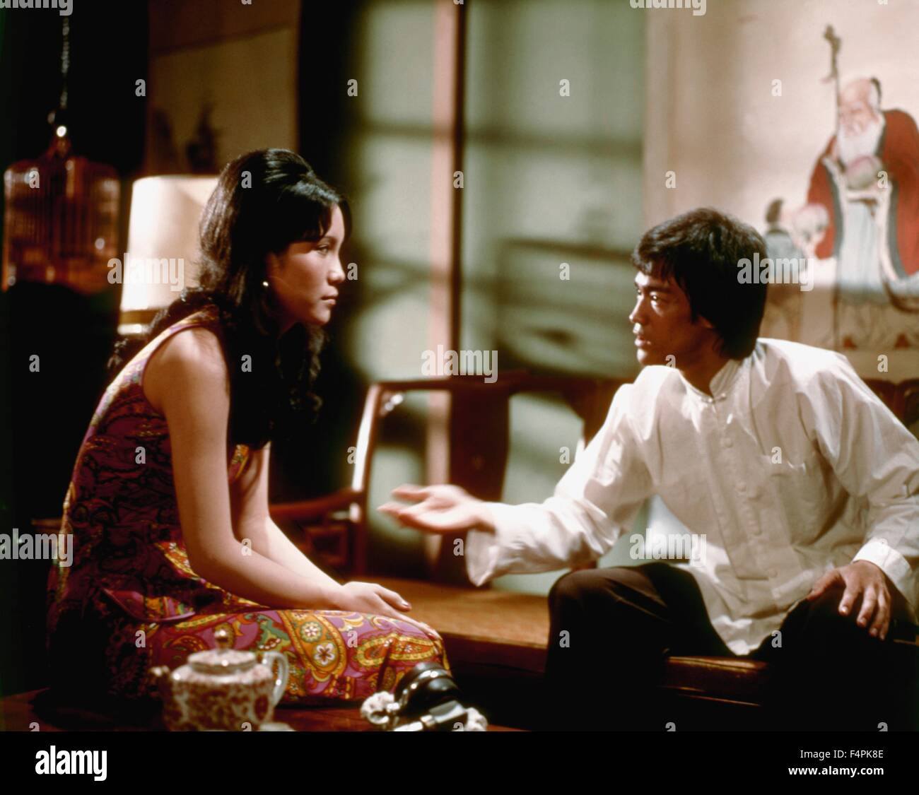 Betty Chung and Bruce Lee / Enter the Dragon / 1973 directed by Robert Clouse [Warner Bros. Pictures] - Stock Image