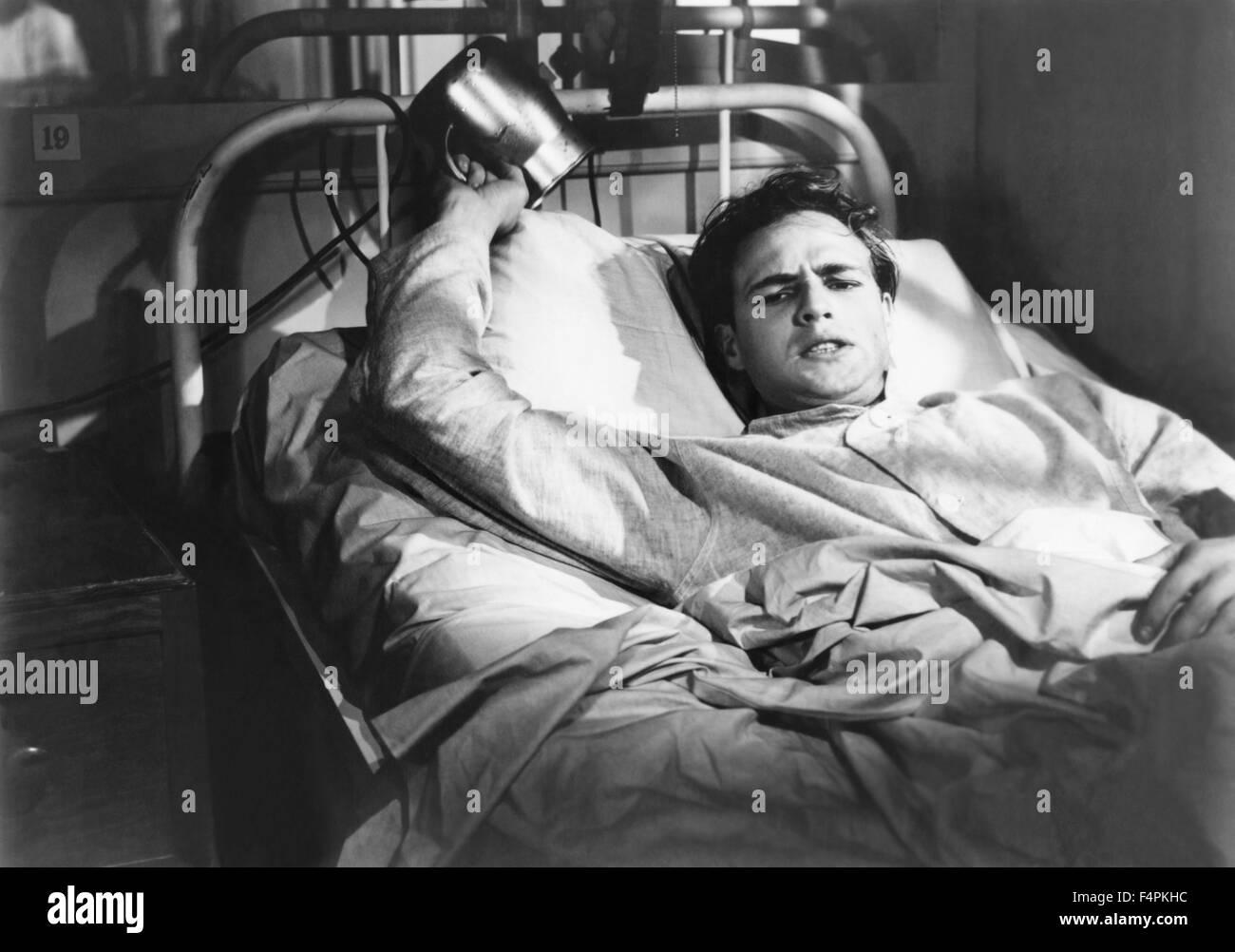 Marlon Brando / The Men / 1950 directed by Fred Zinnemann [United Artists] - Stock Image