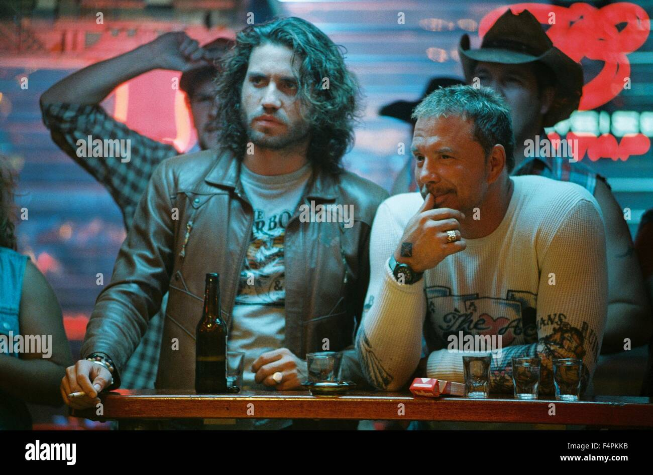 Mickey Rourke and Edgar Ramirez / Domino / 2005 directed by Tony Scott [New Line Cinema] - Stock Image