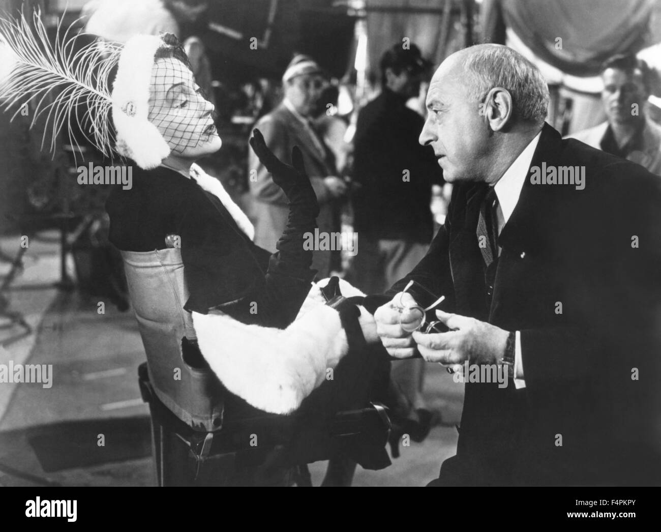 Gloria Swanson and Cecil B. DeMille / Sunset Boulevard / 1950 directed by Billy Wilder [Paramount Pictures] - Stock Image