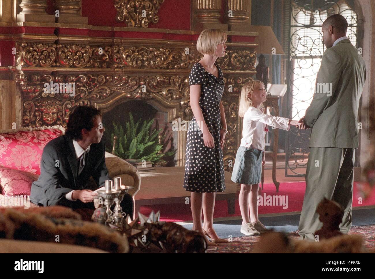 Marc Anthony, Radha Mitchell, Dakota Fanning and Denzel Washington / Man on Fire /  2004 directed by Tony Scott - Stock Image