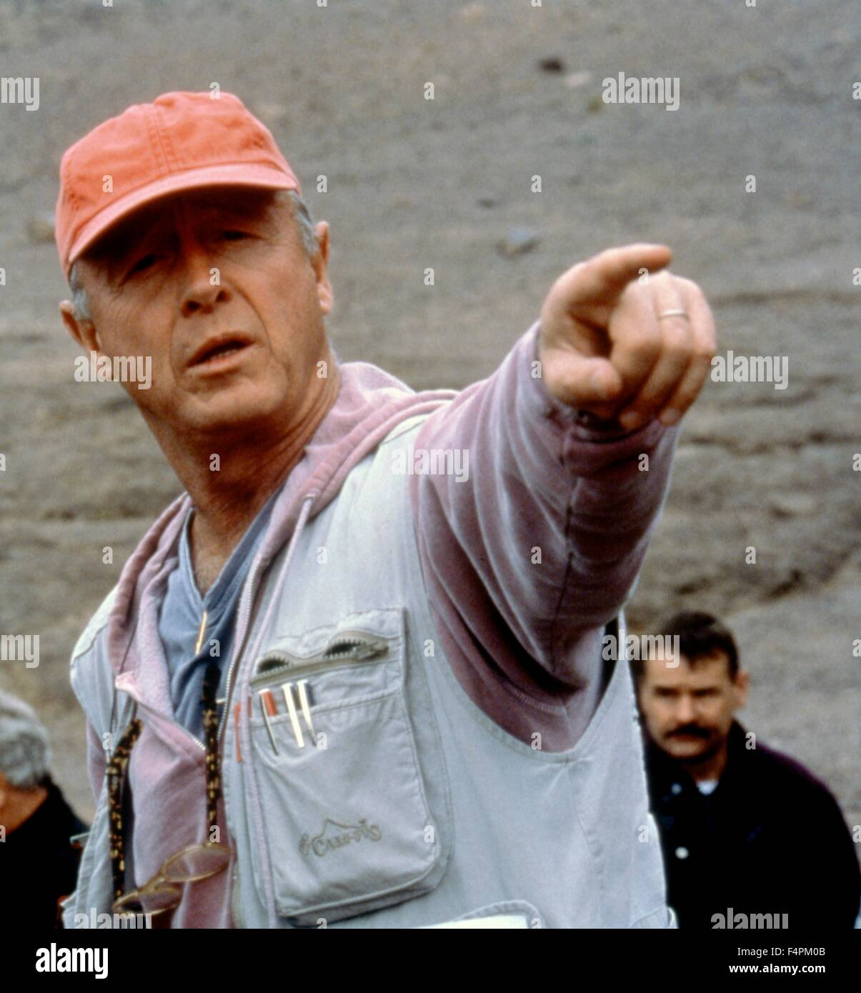 On the set, Tony Scott / Spy game / 2011 directed by Tony Scott [Universal Pictures] - Stock Image