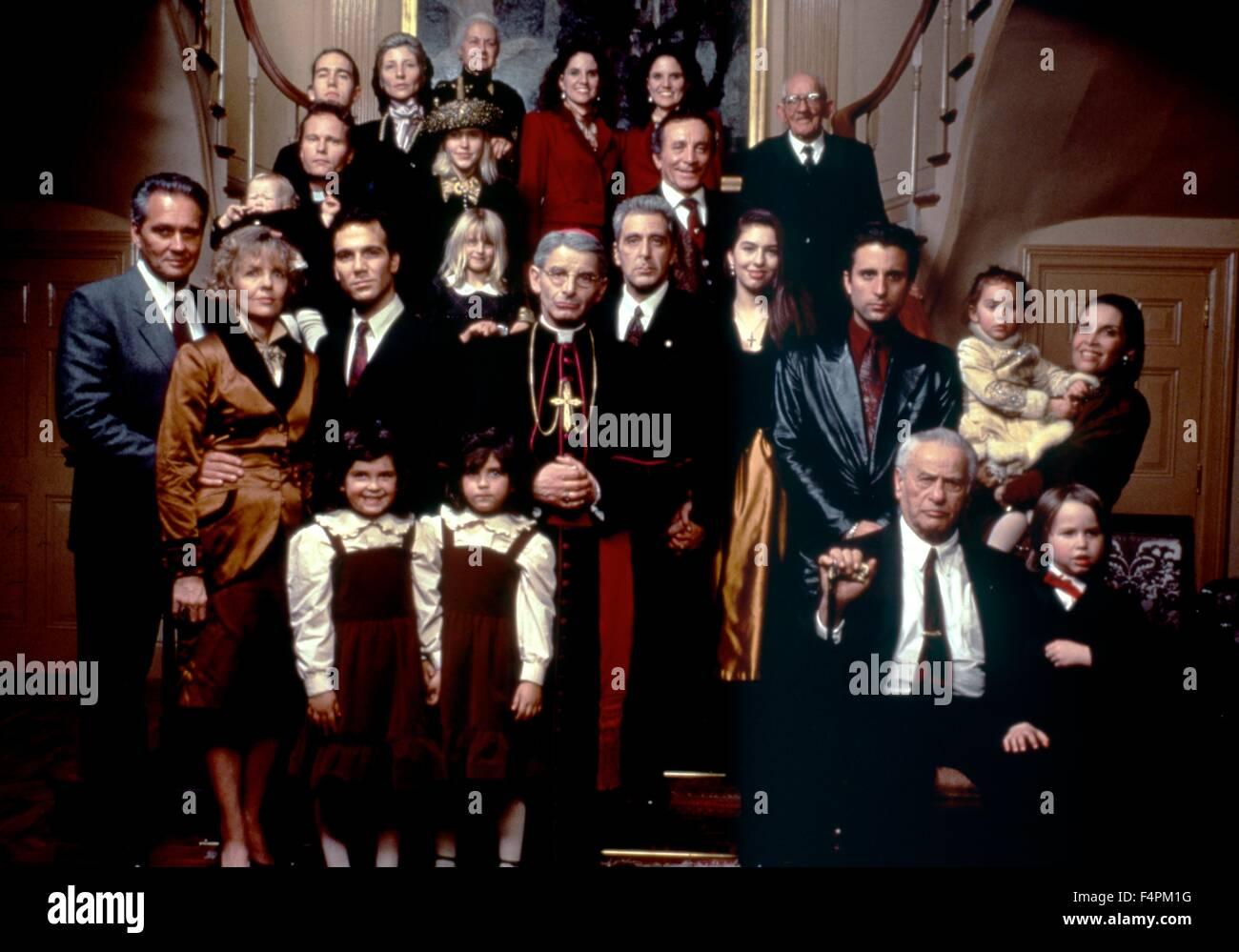 Diane Keaton, John Savage, Donald Donnelly, Al Pacino, Sofia Coppola, Andy Garcia, Eli Wallach and Talia Shire / - Stock Image