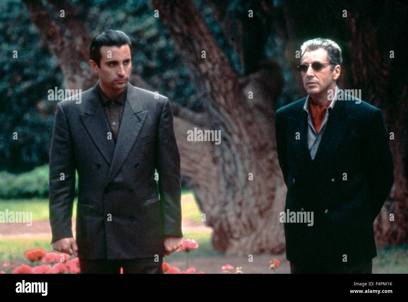 Andy Garcia and Al Pacino / The Godfather: Part III / 1990 directed by Francis Ford Coppola [Paramount Pictures] - Stock Image