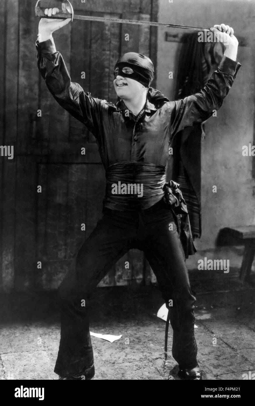 Douglas Fairbanks / The Mark of Zorro / 1920 directed by Fred Niblo [United Artists] - Stock Image