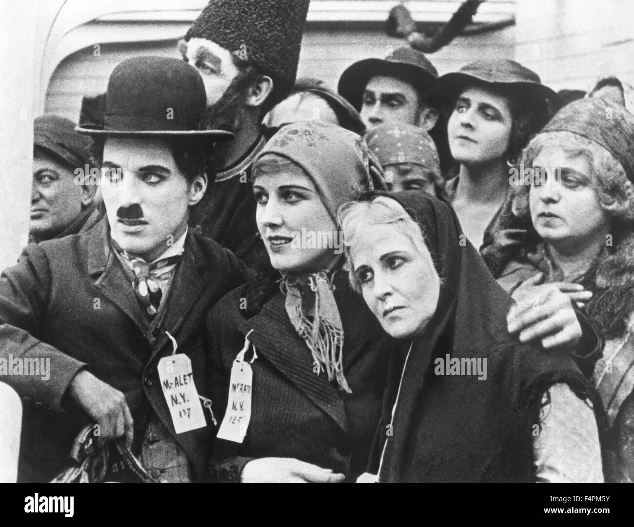 Charles Chaplin and Edna Purviance / The Immigrant / 1917 directed by Charles Chaplin [A Mutual Comedy] - Stock Image