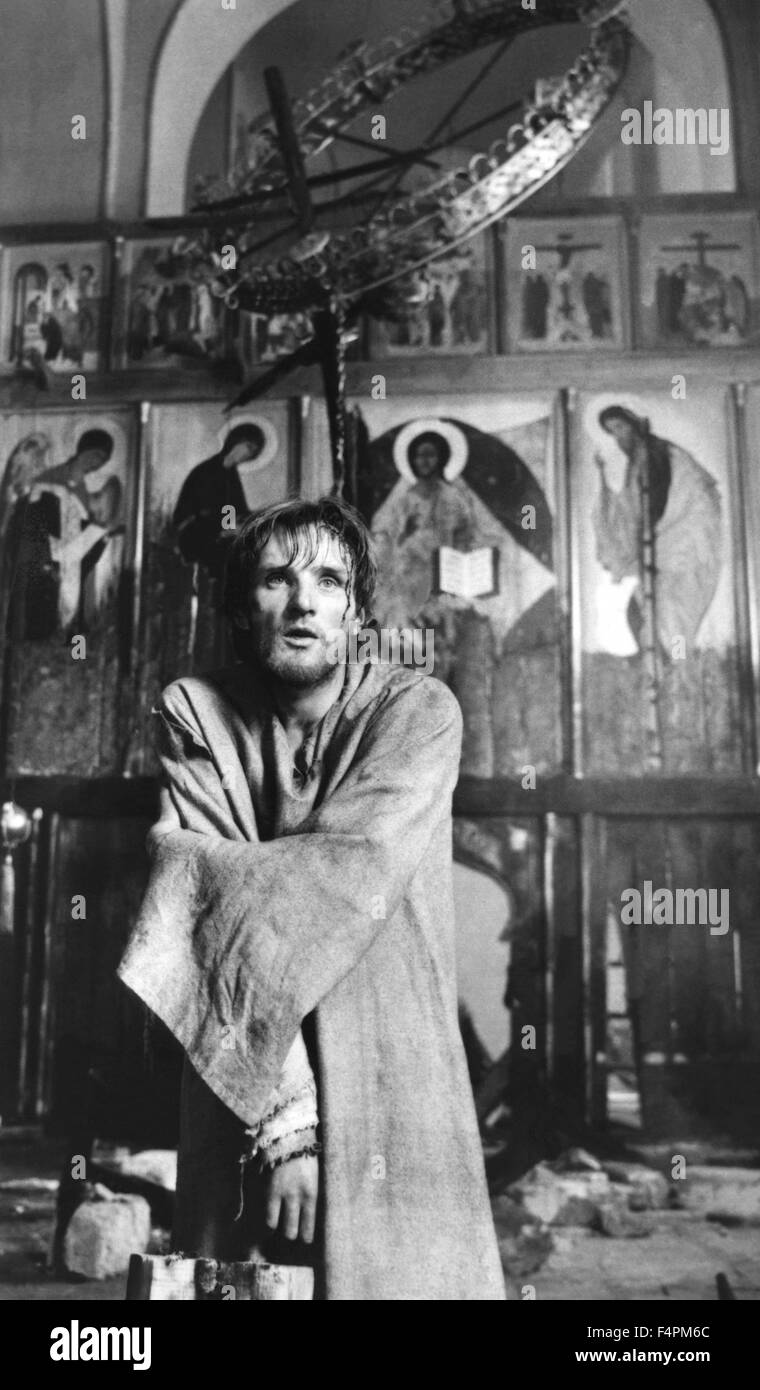 Anatoliy Solonitsyn / Andrei Rublev / 1966 directed by Andrey Tarkovskiy [Mosfilm] - Stock Image