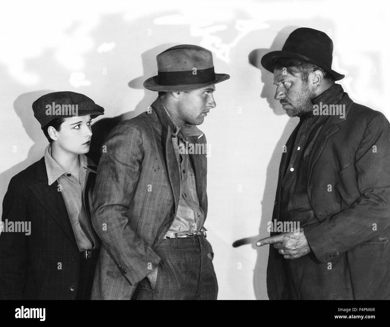 Louise Brooks, Richard Arlen and Wallace Beery / Beggars of Life / 1928 directed by William A. Wellman  [Paramount - Stock Image