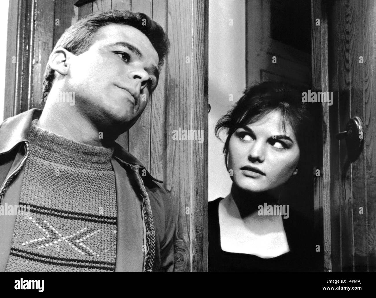 Renato Salvatori and Claudia Cardinale / Big Deal on Madonna Street / 1958  directed by Mario Monicelli [Lux Film]