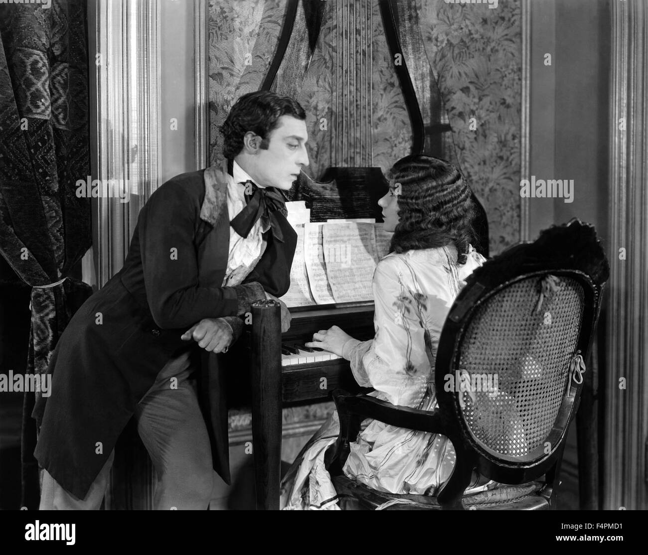 Buster Keaton and Natalie Talmadge / Our Hospitality / 1923 directed by Buster Keaton and John G. Blystone [Metro - Stock Image