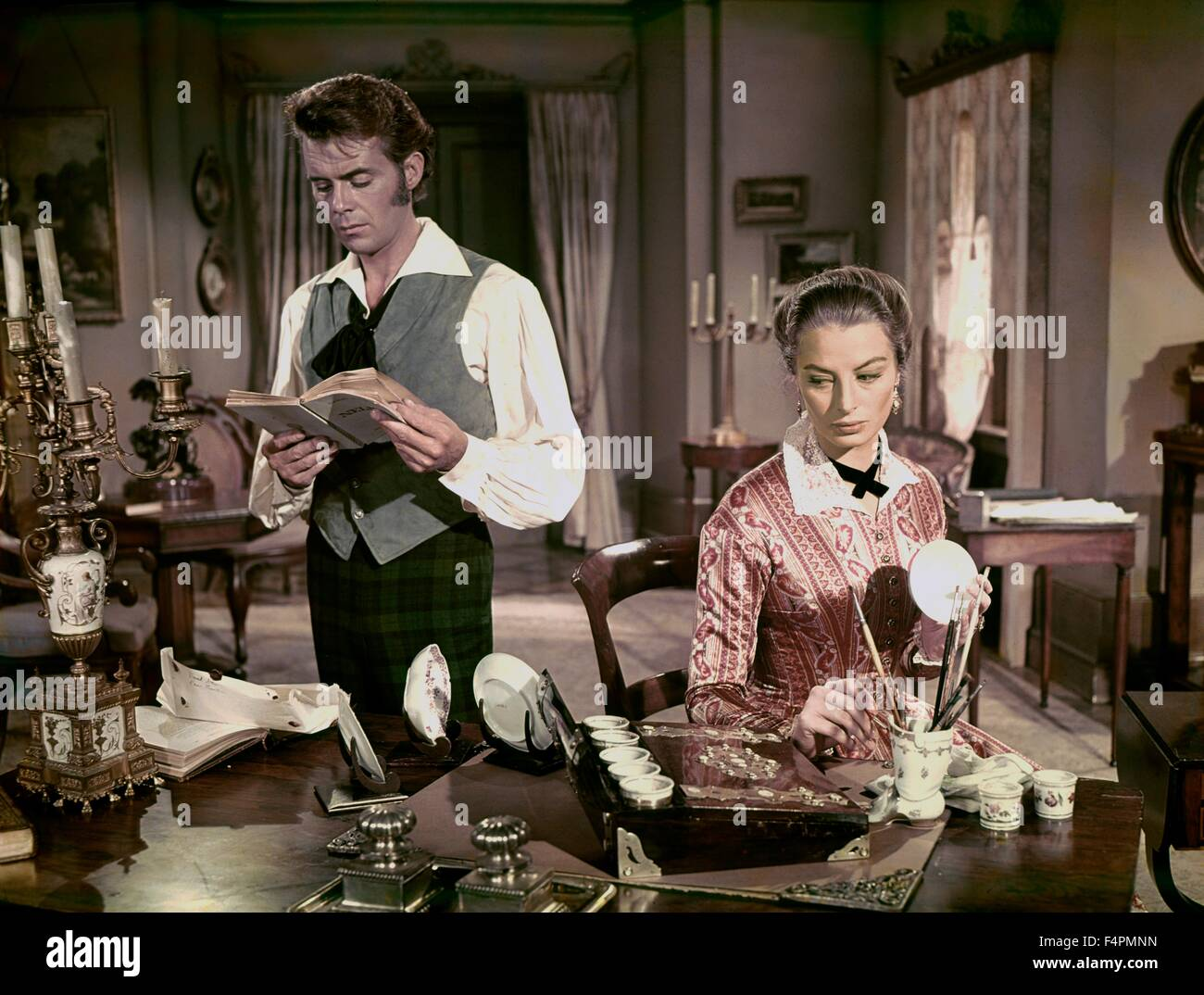 Dirk Bogarde and Capucine / Song Without End / 1960 directed by Charles Vidor [Columbia Pictures] - Stock Image