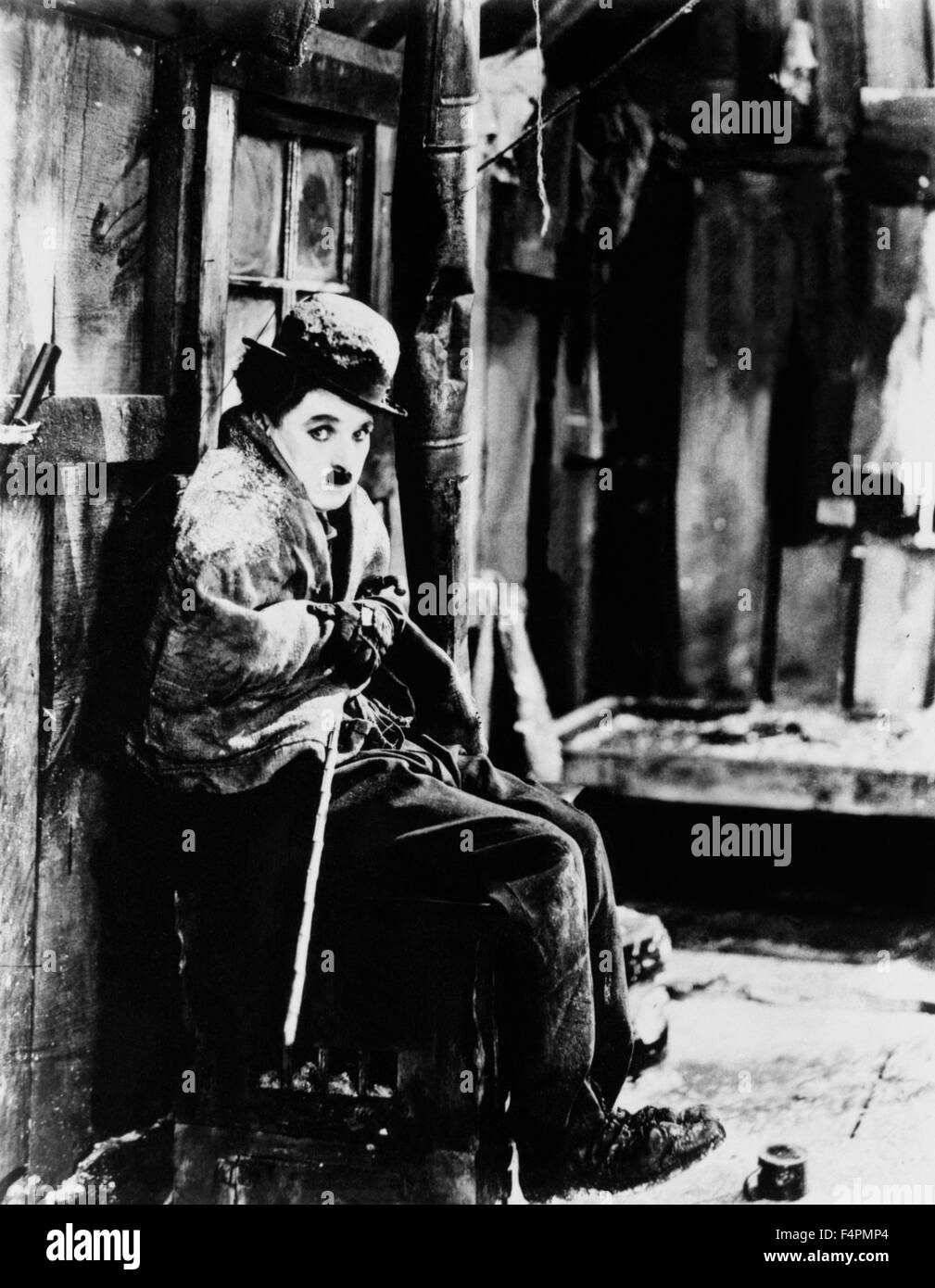 Charlie Chaplin / The Gold Rush / 1925 directed by Charlie Chaplin [United Artists] - Stock Image