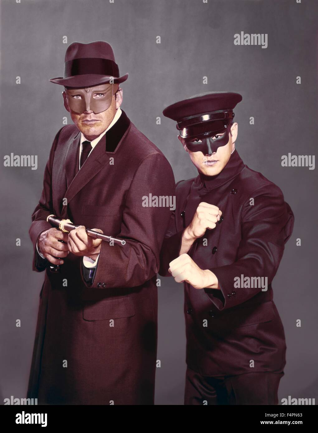 Van Williams and Bruce Lee / The Green Hornet (TV Series) / 1966-1967 created by  George W. Trendle [Twentieth Century - Stock Image