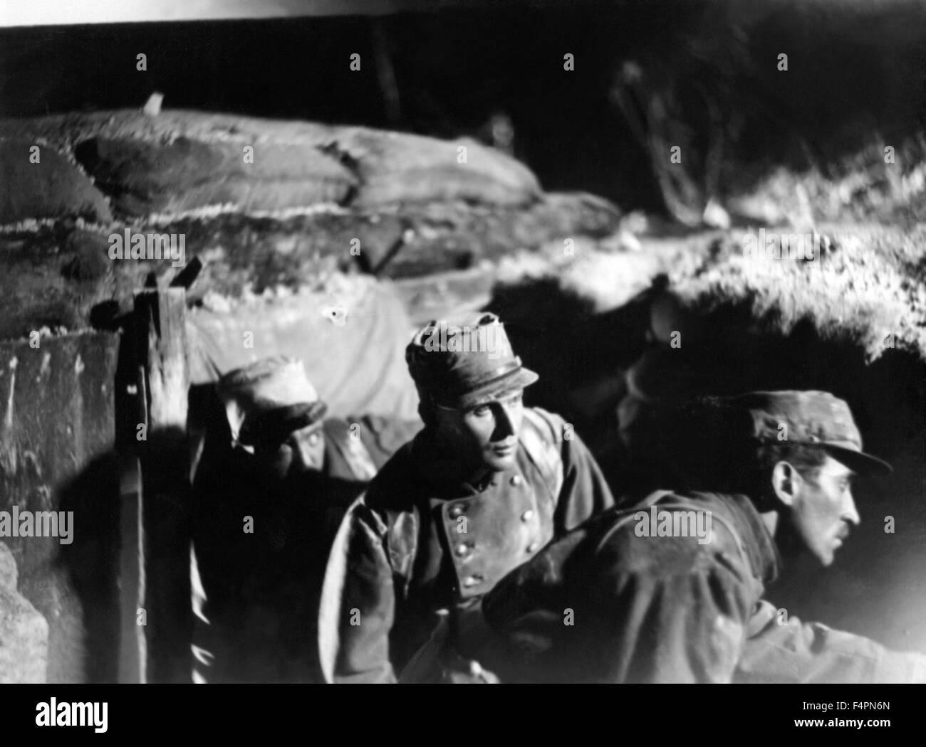 Pierre Blanchar / Wooden Crosses / 1931 directed by Raymond Bernard - Stock Image