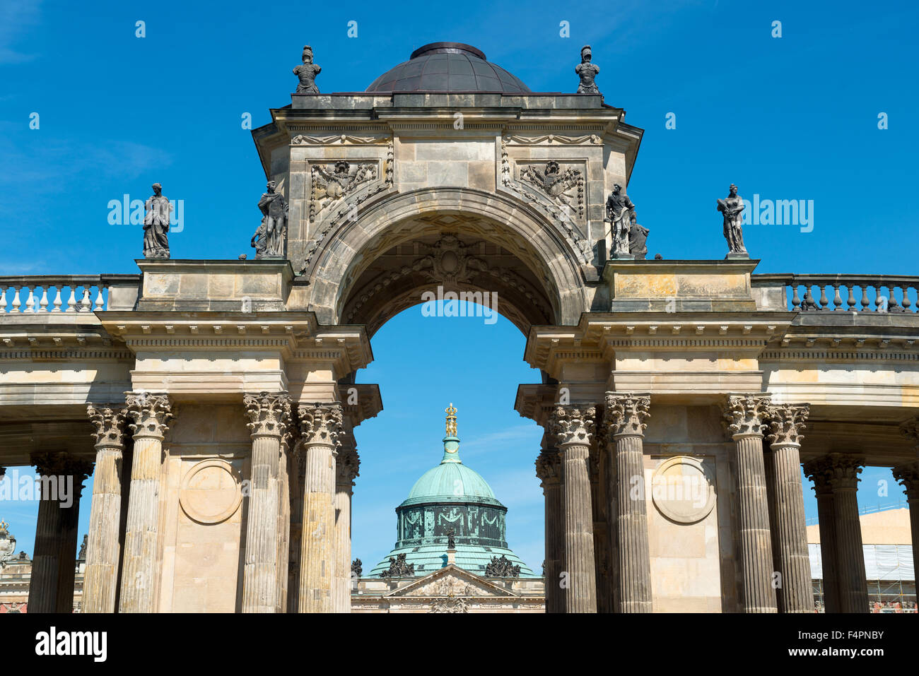 View on the Communs, the part of University of Potsdam in Sanssouci park in Potsdam, Germany Stock Photo