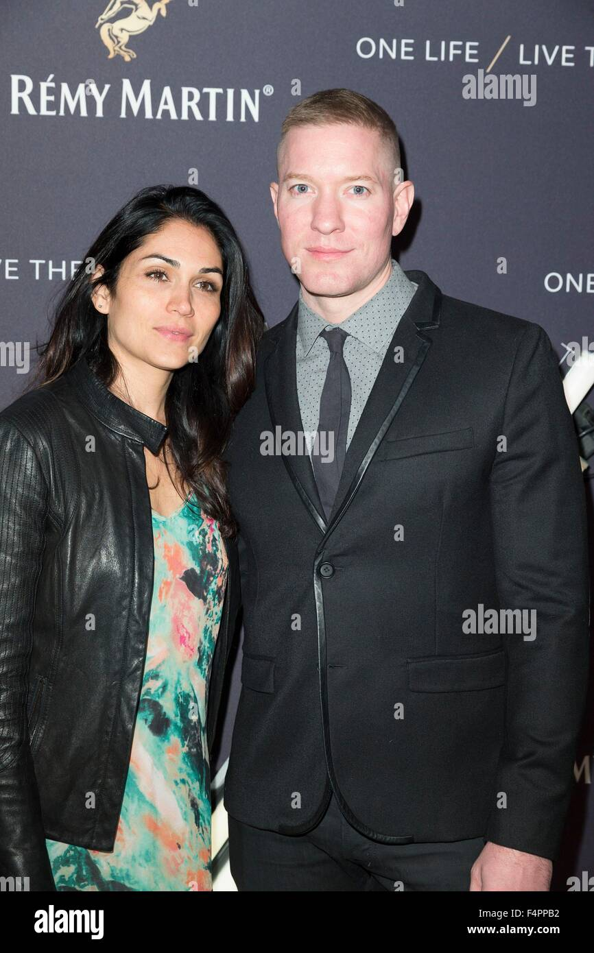 New York, NY, USA. 20th Oct, 2015. Lila Grace Rose, Joseph Sikora at arrivals for Remy Martin ONE LIFE/LIVE THEM - Stock Image