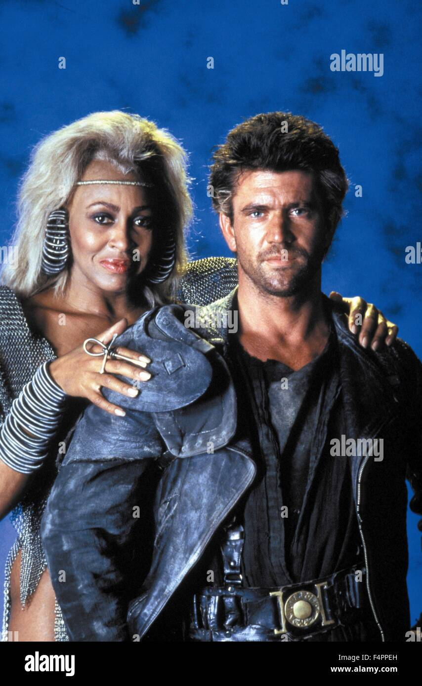 Tina Turner and Mel Gibson / Mad Max Beyond Thunderdome / 1985 directed by George Miller and George Ogilvie [Warner - Stock Image