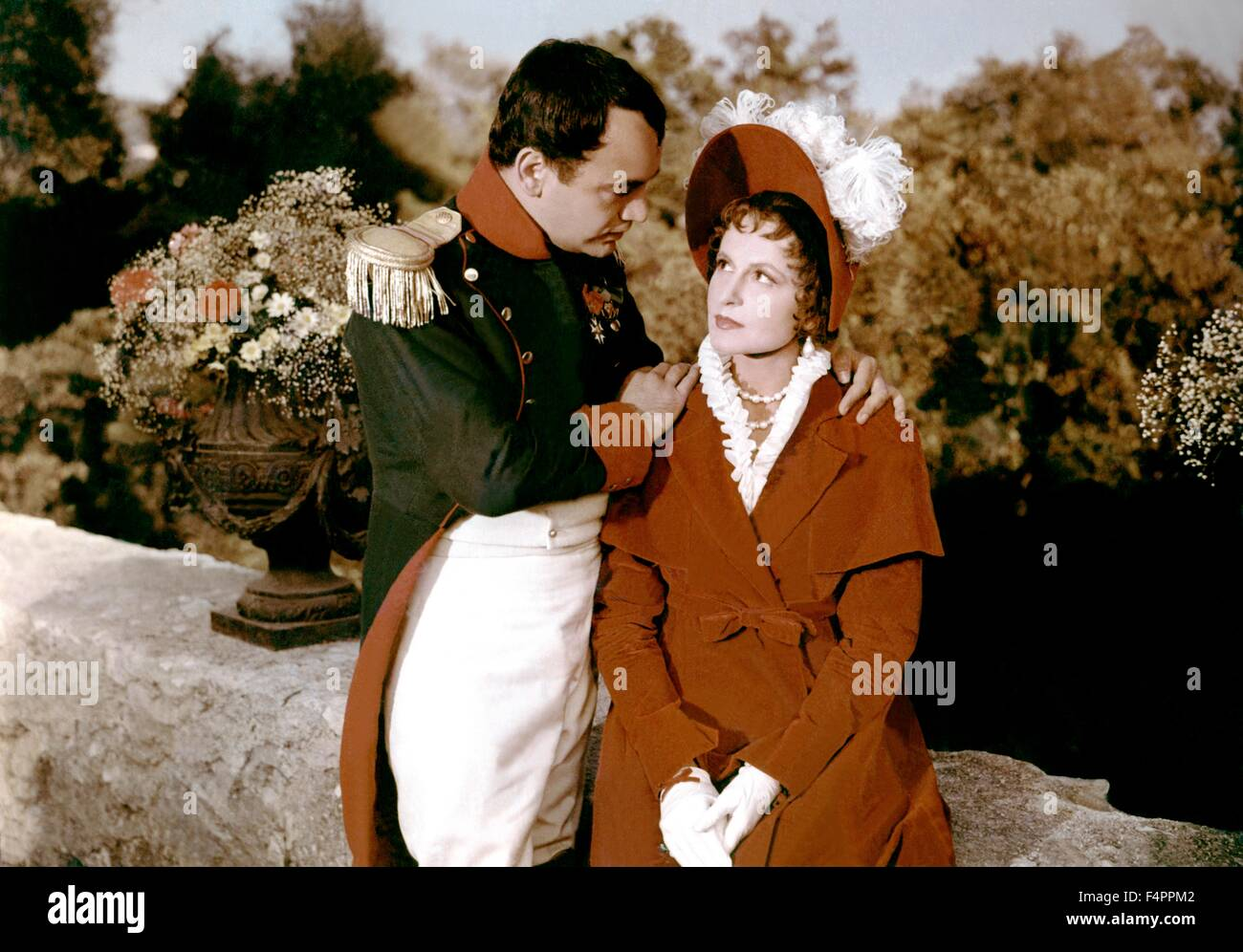 Raymond Pellegrin and Lana Marconi / Napoleon / 1954 directed by Sacha Guitry - Stock Image