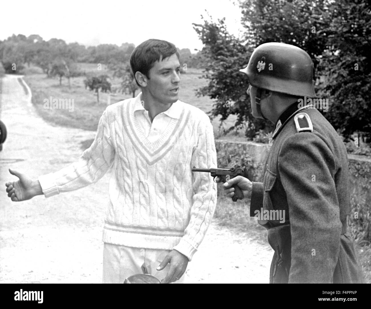 Alain Delon plays Jacques Chaban-Delmas in the movie / Is Paris Burning ? / 1966 directed by Rene Clement  [Paramount - Stock Image