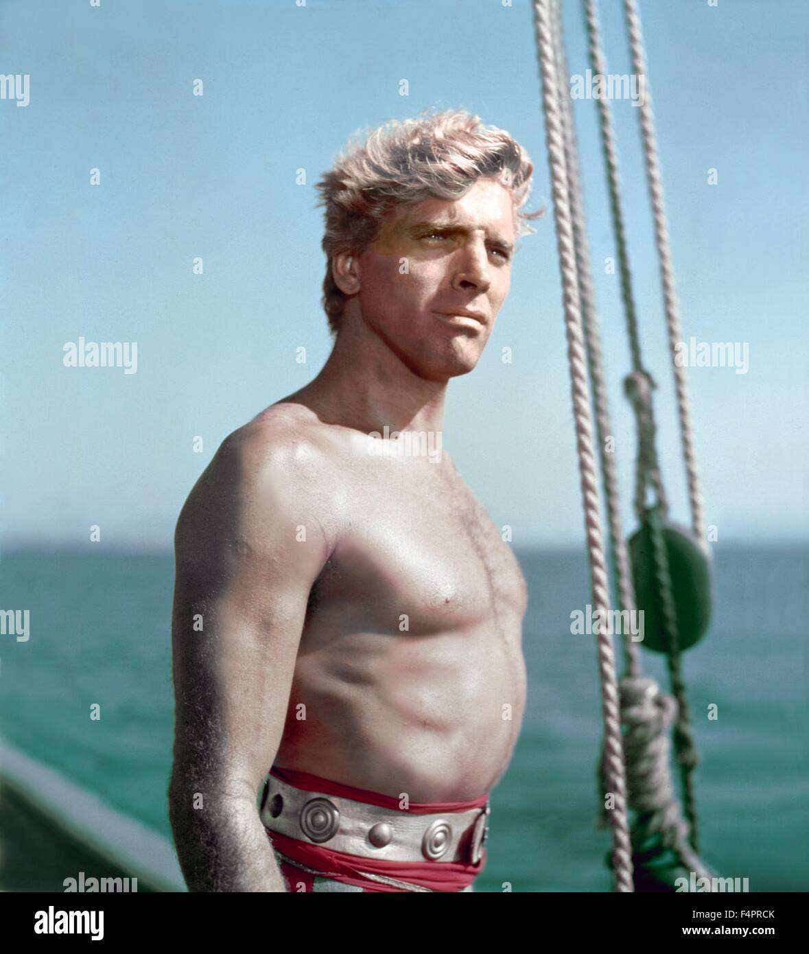 Burt Lancaster / The Crimson Pirate / 1952 directed by Robert Siodmak [Warner Bros. Pictures] - Stock Image