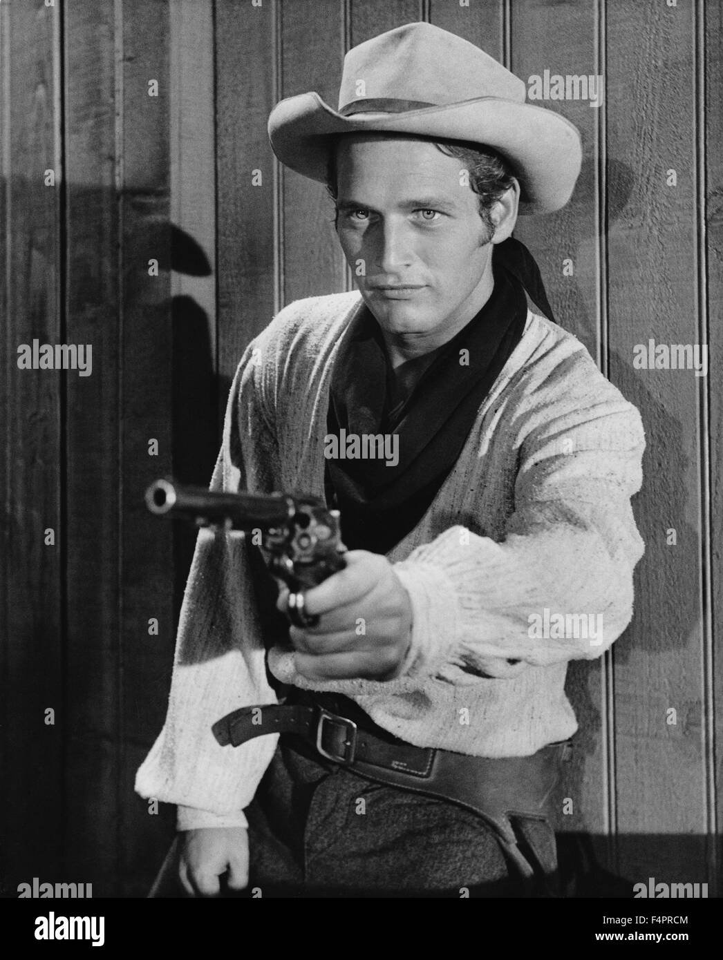 Paul Newman / The Left Handed Gun / 1958 directed by Arthur Penn  [Harroll Productions / Warner Bro] - Stock Image