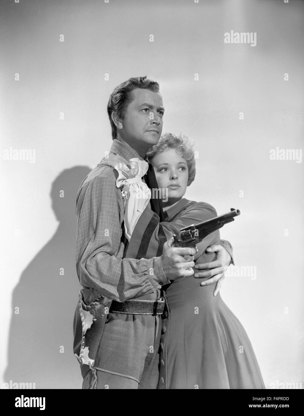 Robert Young and Virginia Gilmore / Western Union /  1941 directed by Fritz Lang  [Twentieth Century Fox Film Corpo] - Stock Image