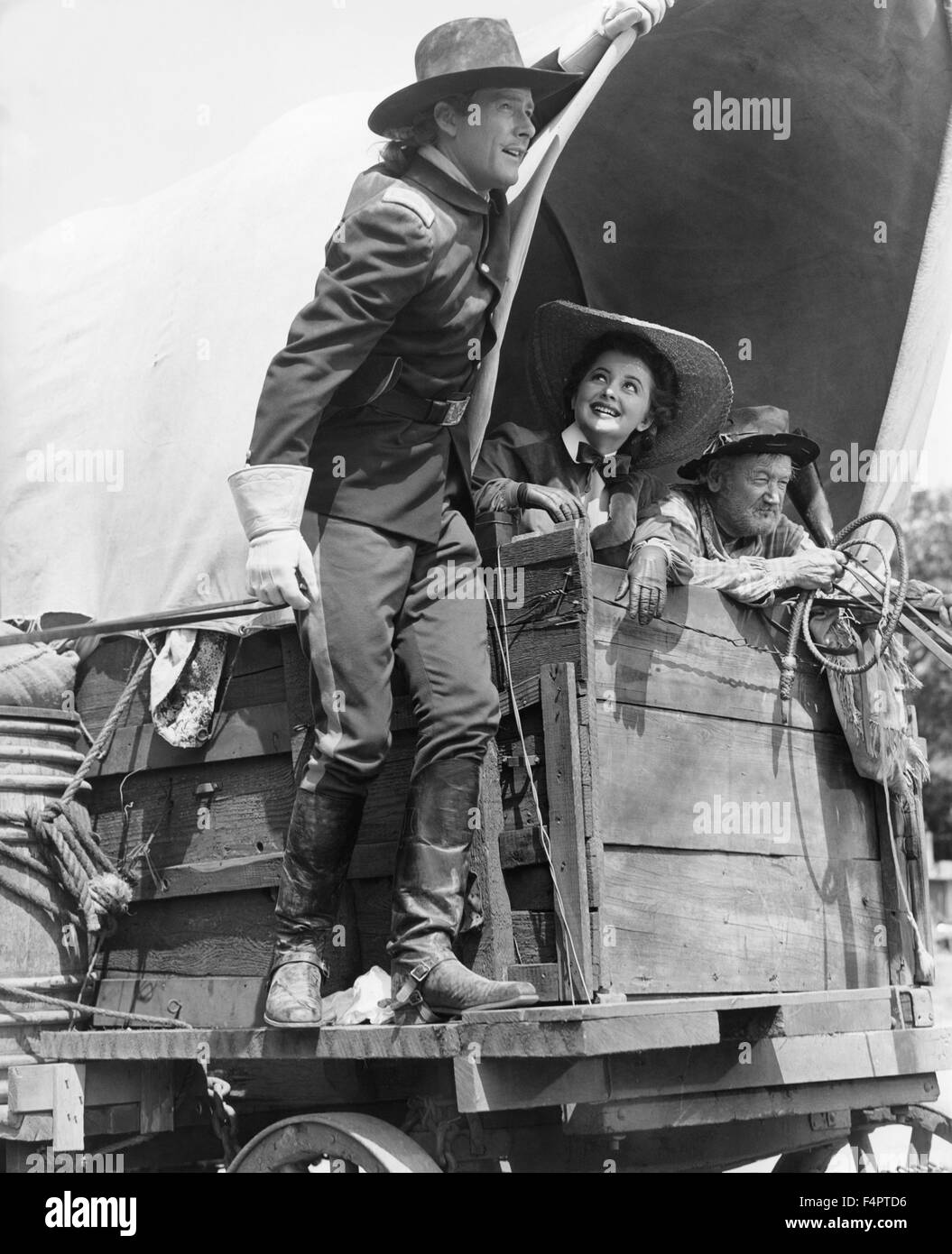Errol Flynn and Olivia de Havilland / They Died with Their Boots On / 1941 directed by Raoul Walsh  [Warner Bros. - Stock Image