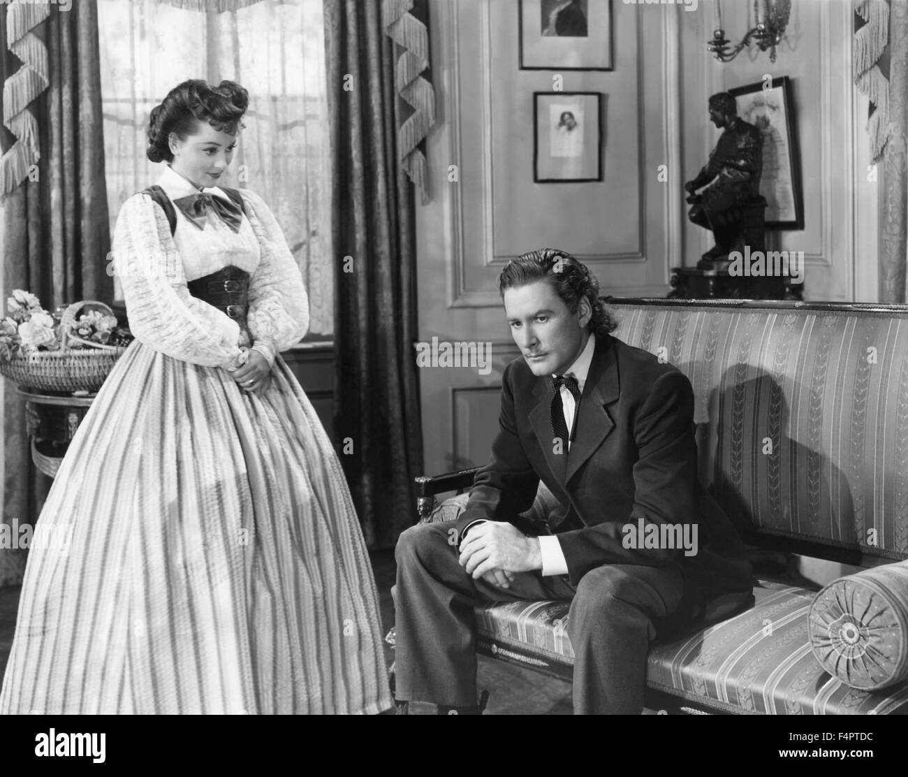 Olivia de Havilland and Errol flynn / They Died with Their Boots On / 1941 directed by Raoul Walsh  [Warner Bros. - Stock Image