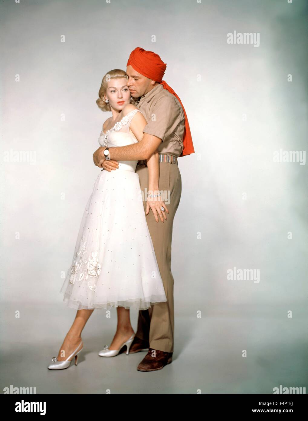 Lana Turner and Richard Burton / The Rains of Ranchipur / 1955 directed by Jean Negulesco [Twentieth Century Fox - Stock Image