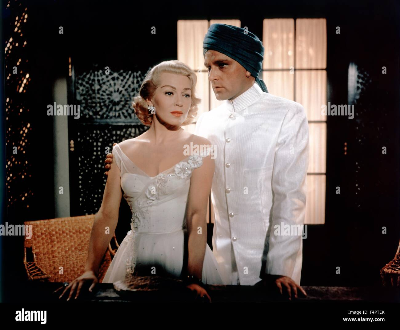 Richard Burton and Lana Turner / The Rains of Ranchipur / 1955 directed by Jean Negulesco [Twentieth Century Fox - Stock Image