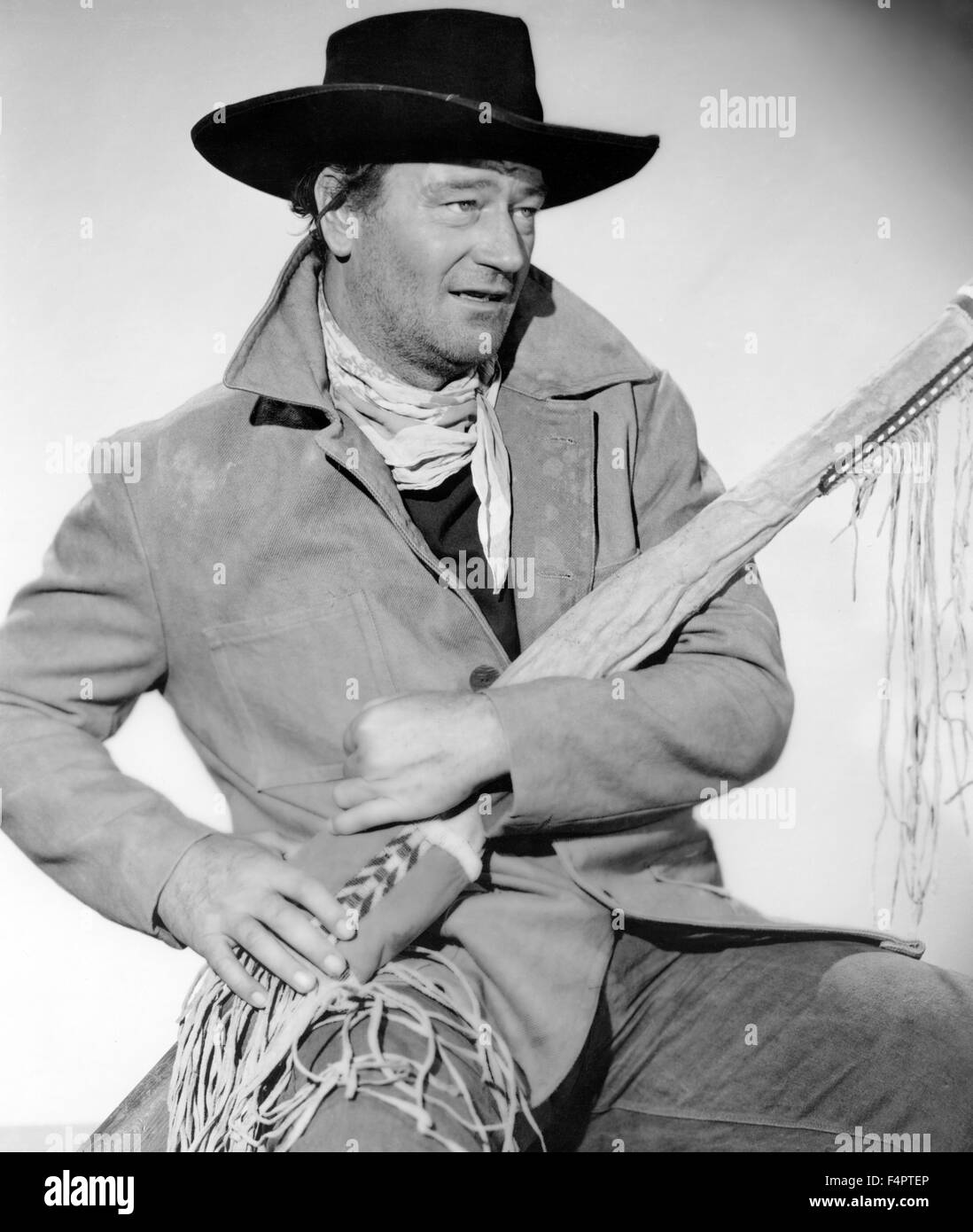 John Wayne / The Searchers / 1956 directed by John Ford [Warner Bros. Pictures] - Stock Image