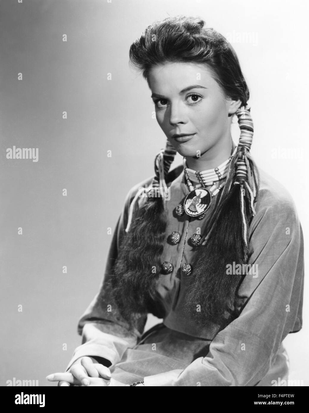 Natalie Wood / The Searchers / 1956 directed by John Ford [Warner Bros. Pictures] - Stock Image