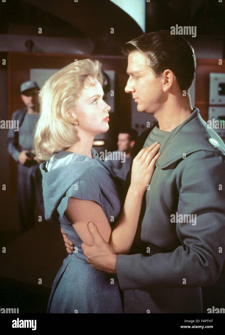 Leslie Nielsen and Anne Francis / Forbidden Planet / 1956 directed by Fred M.wilcox [Metro-Goldwyn-Mayer] - Stock Image